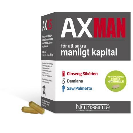 AXMAN VIRILITET Säkra Manligt Kapital kapslar